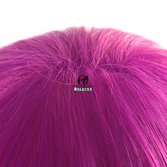 ROLECOS Game LOL KDA Evelynn Cosplay Hair LOL K/DA Evelynn Synthetic Hair New Skin Cosplay Headwear Purple Long Hair for Women 3