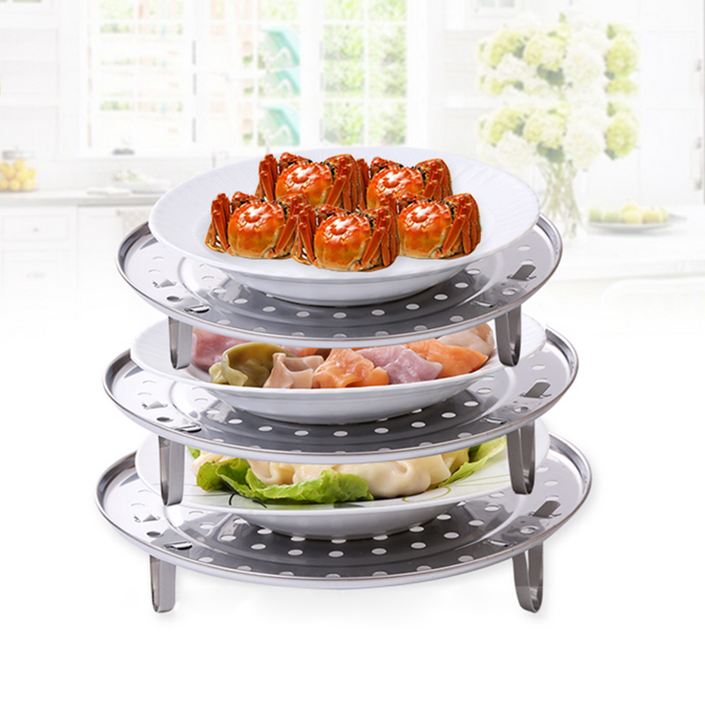 Hot Stainless Steel Steamer Rack Insert Stock Pot Steaming Tray Stand Cookware Tool Microondas Rack Kitchenware