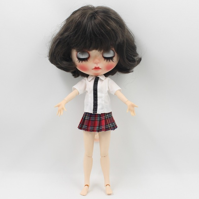 Neo Blythe Doll Red Plaid Uniform