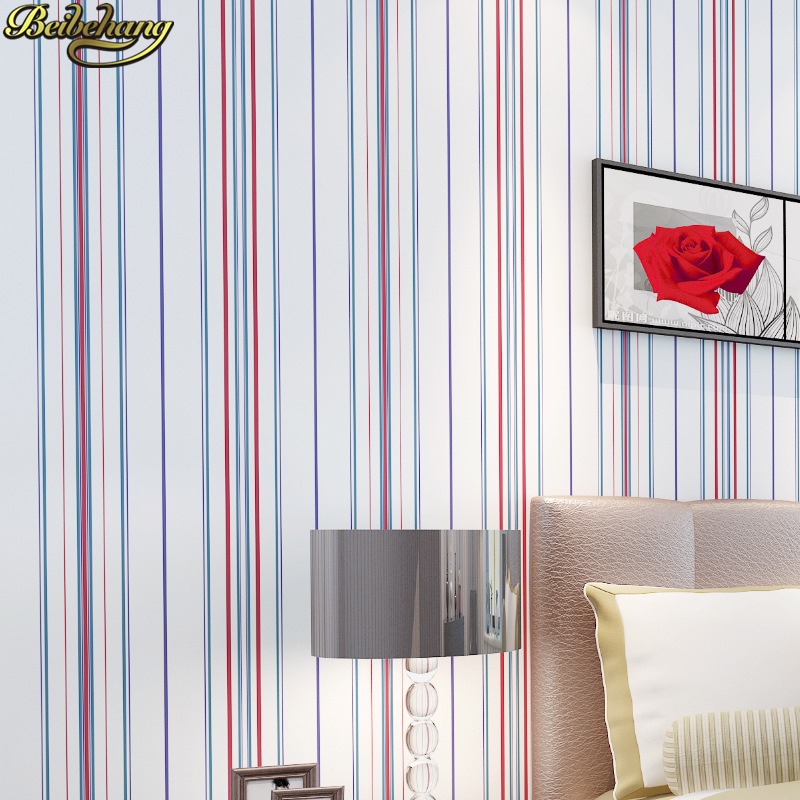 beibehang home decor plain children's pvc striped wallpaper roll modern for kids room 3D wall paper roll boy girl wall coverings wallpapers youman 3d brick wallpaper wall coverings brick wallpaper bedroom 3d wall vinyl desktop backgrounds home decor art