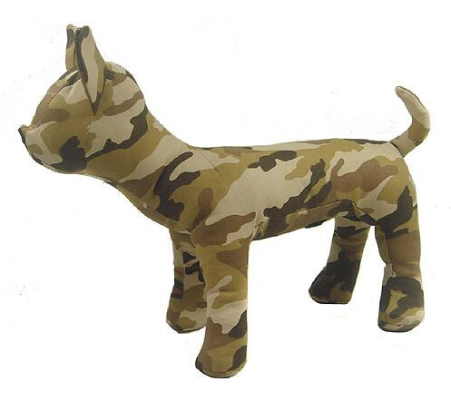 Camouflage denim Pet Dogs Mannequin sitting Position Dog Models for denim Clothing two sizes Pet dog toy Supplies 1PC M00470 in Mannequins from Home Garden