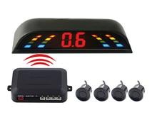 New LED Display  Wireless Parking Sensor Kit 4 Sensors Auto Car Reverse Assistance Backup Radar Monitor System detector de radar