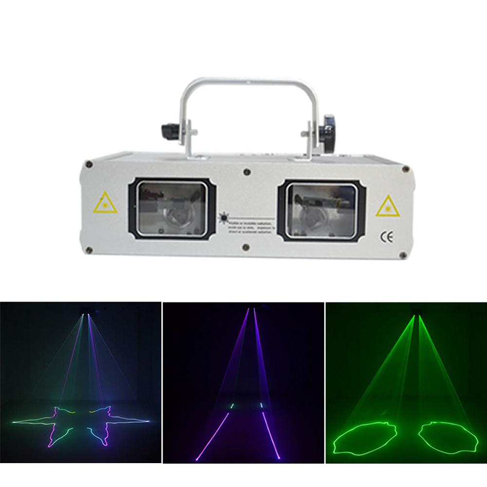 AUCD 2 Lens Beam Scan Double RGB Laser Lights Pro Disco DJ Home Party 9CH DMX Mix Full Color Projector Show Stage Lighting 506FAUCD 2 Lens Beam Scan Double RGB Laser Lights Pro Disco DJ Home Party 9CH DMX Mix Full Color Projector Show Stage Lighting 506F