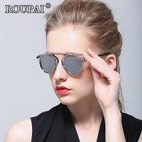 ROUPAI 2017 Original Brand Women Sun Glasses Luxury Female Polarized Sunglasses Steampunk Beach Eyeglass Novelty Hipster