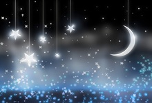 Laeacco Dreamy Twinkle Little Star Crescent Moon Photography Backgrounds Customized Photographic Backdrops For Photo Studio