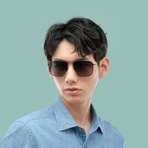 Image 5 - Xiaomi Mijia classic box Sun Glasses Pro box gradient gray classic square stainless steel frame polarized lens anti UV anti oil