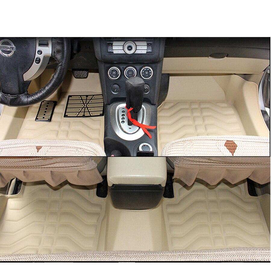 Fibre cuir tapis de sol de voiture tapis pour nissan qashqai j10 2009 2010 2011 2012 2013 2014 2015