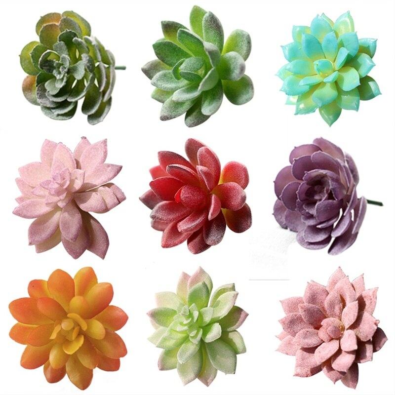 Artificial Mini Flower Home Party Decoration Miniature Succulents Plastic Plants Garden Office Decor