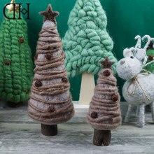 Оригинальный Dream House DH BS163227 Фэнтези Новогодние товары Tree Фигурка шерсть елка миниатюрные Новогоднее украшение Рождественский подарок