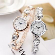 New 2017 Brand JW crystal Bracelet watches Women Clock Luxury Rose Gold Dress Wristwatches Ladies Casual Analog Quartz Watch стоимость