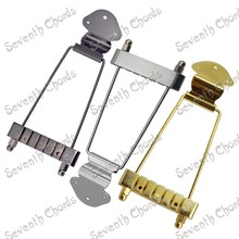 A Set 6 String Archtop Trapeze Tailpiece for Hollow Semi Hollow Jazz  Electric Guitar - Chrome - Black - Gold For Choose