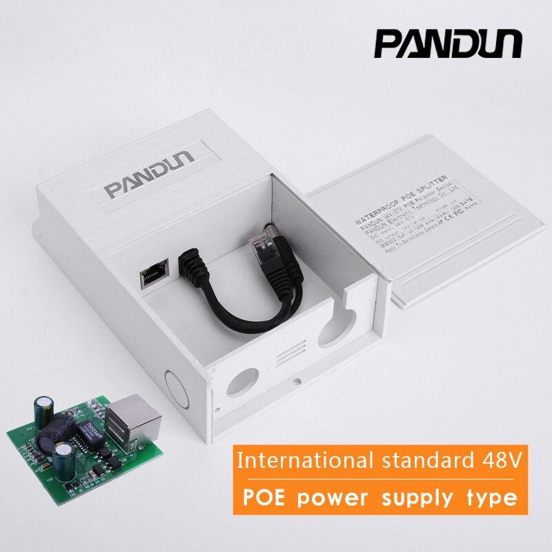 Monitor CCTV Caja impermeable POE Splitter Módulo Separador integrado tipo estándar 48 V convierte 12 V