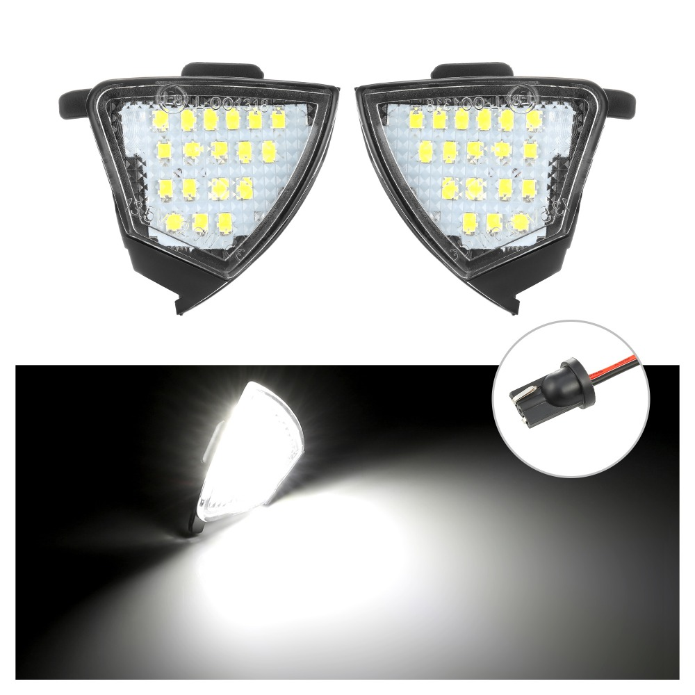 2Pcs Error Free LED Under Mirror Light Puddle Lamp for <font><b>VW</b></font> <font><b>Golf</b></font> <font><b>5</b></font> Mk5 MkV <font><b>GTI</b></font> Passat b6 Jetta R32 Golf6 Variant image