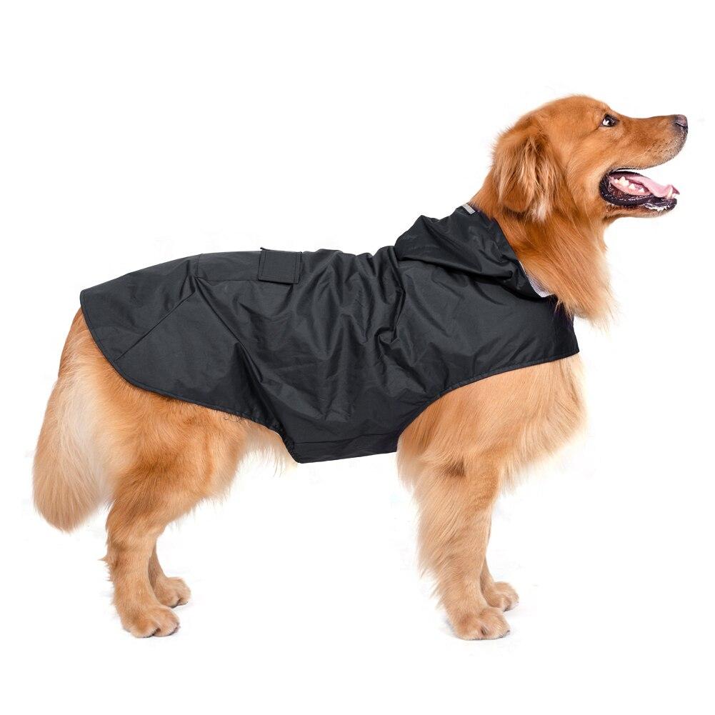 The New Pet Clothes Dog Raincoat Super Waterproof Hooded Feet Big Dog Raincoat Dog Clothes 2017