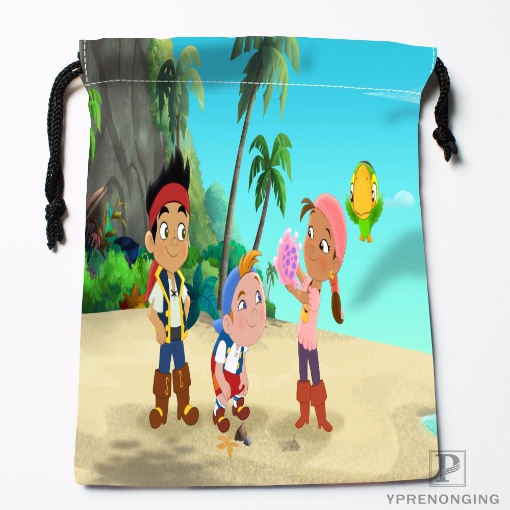 Custom Neverland Map Drawstring Bags Travel Storage Mini Pouch Swim Hiking Toy Bag Size 18x22cm#0412-03-29