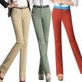 2017 осень зима новый Моды Случайные Высокой Талии хлопок плюс размер Эластичность брюки женские дамы женской одежды clohtes