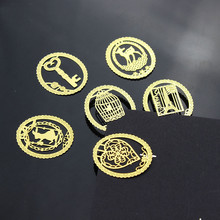 Клетка закладки книги офиса клипы бумага kawaii золото металл творческий продукты