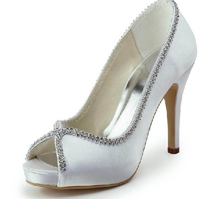 Lady Y P Toe Spring Summer Shoes Rhinestone Wedding Simple Graceful Bridal Bridesmaid In Women S Pumps From On Aliexpress