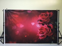 HUAYI 7x5ft Valentine Day backdrops for photography rose flower backdrop cotton no wrinkles washable reuse backdrops D 8241
