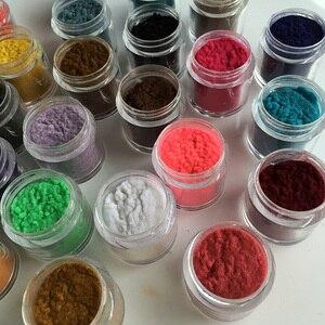 Image 1 - 24 cores 10ml/garrafa decoração unhas de vidro polonês arte diy dicas design veludo reunindo pó pó manicure veludo em pó