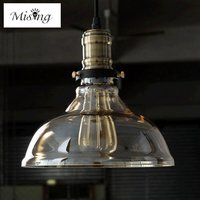 Mising E27 40W Retro Industrial Glass Windmill Chandelier Lampshade Lampcover Metal Celling Lamp Indoor Lighting