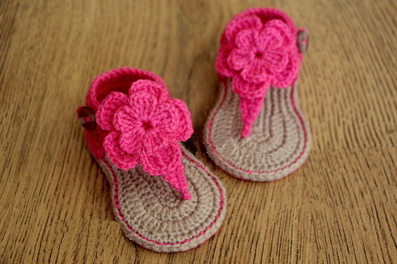 Baby girl Toddler shoes Crochet Handmade Woolen Crochet ...