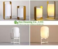 North America LED Modern Table Desk Lamp White Lampshade Gold Light Base Residential Lighting