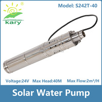 high frequency vacuum pump, dc 24v flow 3000L/H submersible pumps water pumps brushless solar water pump
