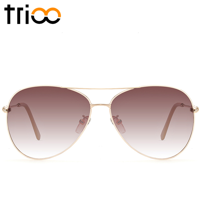 TRIOO 2017 Ultra-Light Driving Polarized Shades Brand Designer Luxury Temple Sunglasses New Classic Pilot Sun Glasses For Women