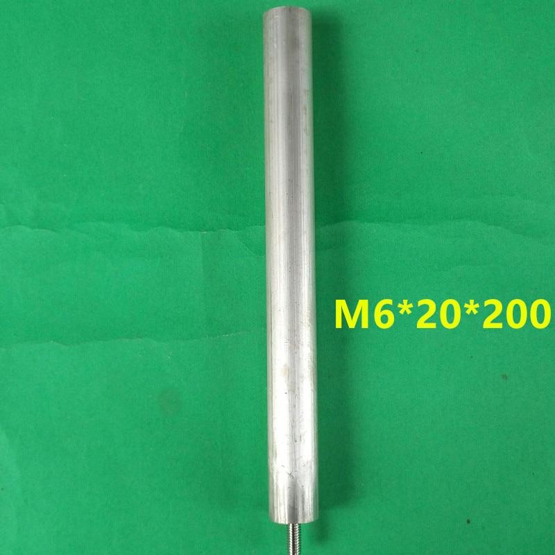 M6*20*200 20cm Shank Length M6 5.7mm Male Dia 20mm Shank Diameter Magnesium Anode Rod For Waterboiler