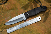 YSTART Hunting Knife ATS 34 Satin Fixed Blade G10 Handle Tactical Survival Knives with Kydex Knife Case