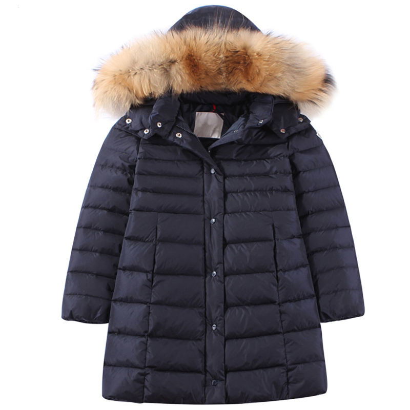 Adult and kid's Hooded down jacket Girl's long white duck down hooded jacket цена