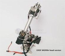 The newest version 5DOF / 6DOF CNC aluminum robotic arm frame ABB industrial robot model MG996r servos unassembled