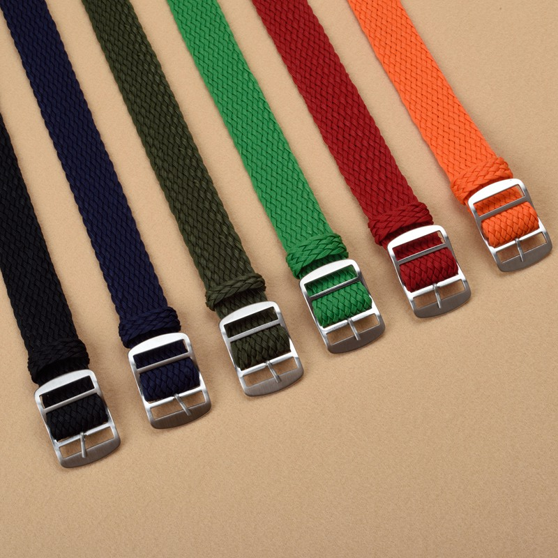 Wholesale 10 PCS/lot Watch Strap 20 22mm Watch Band Black Navy Blue Solid Color Perlon Woven Strap for Sport Watches Men Women ...
