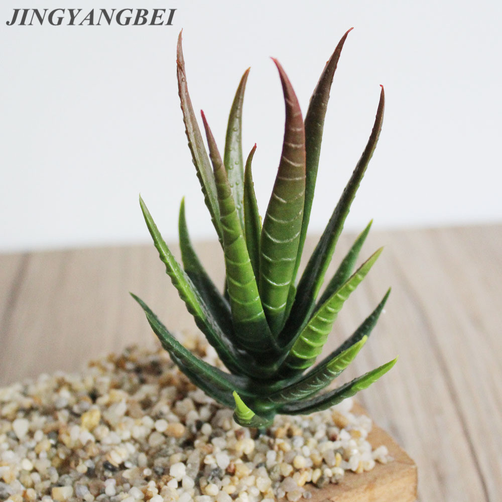 Aloe Vera Kaktus Artificial Green Indoor Small Succulent Plant Arrangement Home
