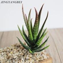 Artificial verde interior pequena planta suculenta arranjo casa decoração falso aloe vera planta suculenta plantador echeveria bonsa