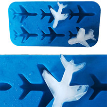 3D Ice Cube Maker Silicone Mold Airplane Shape Whiskey Cocktails Cream Tray