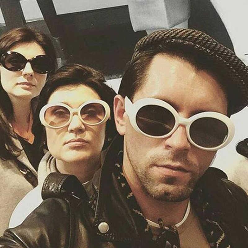 6b76fb020b ... LVVKEE Clout Goggles Oval Sunglasses Women Men NIRVANA Kurt Cobain  Mirror Sun Glasses Retro Female ...