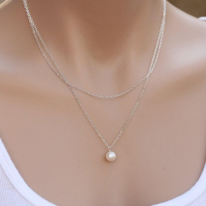Charme Amour Coeur Cristal Cercle Pendentif Or Rose Argent Chaîne Collier Sautoir Bijoux