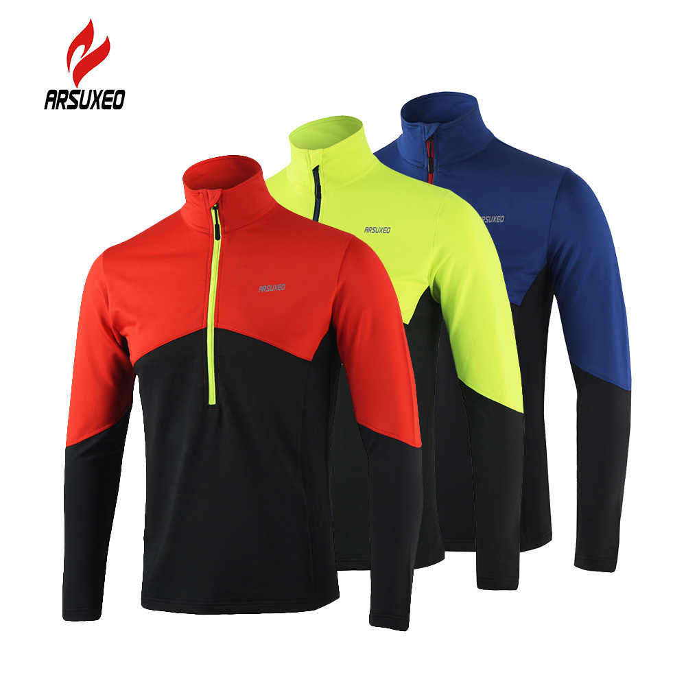 b5968e443e017 Arsuxeo Bike Bicycle Jacket Long Sleeve Cycling Coat Jacket Outdoor Spring  Summer Sportswear Cloth Zippered Breathable