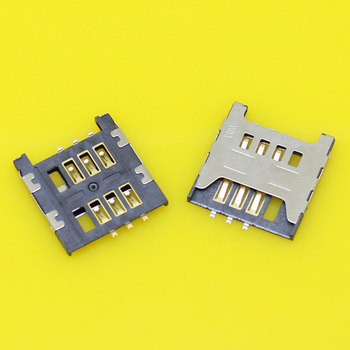 Best Price 2pieces New sim card reader holder for Samsung GT E1200M E1200 I519 I939D I939i tray slot socket connector image