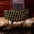 BB-450 Black Agate Round Beads Man Bracelet Tibetan OM MANI PAD ME HUM Amulet Mantras bracelets Natural stone beads 10/12/14mm