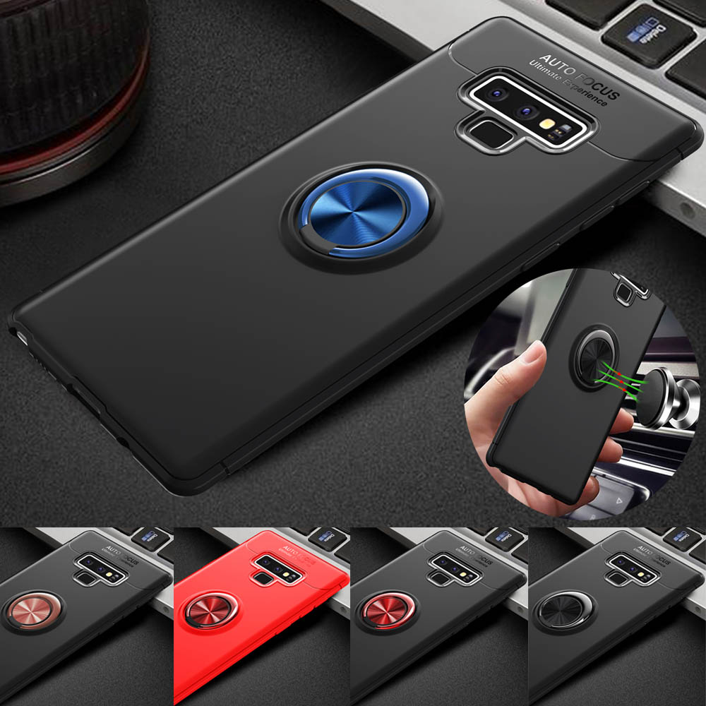 Magnetic Car Holder 360 Rotaing ring case for Samsung Galaxy Note 9 soft TPU 360 full protective cover for Samsung Note 9 case