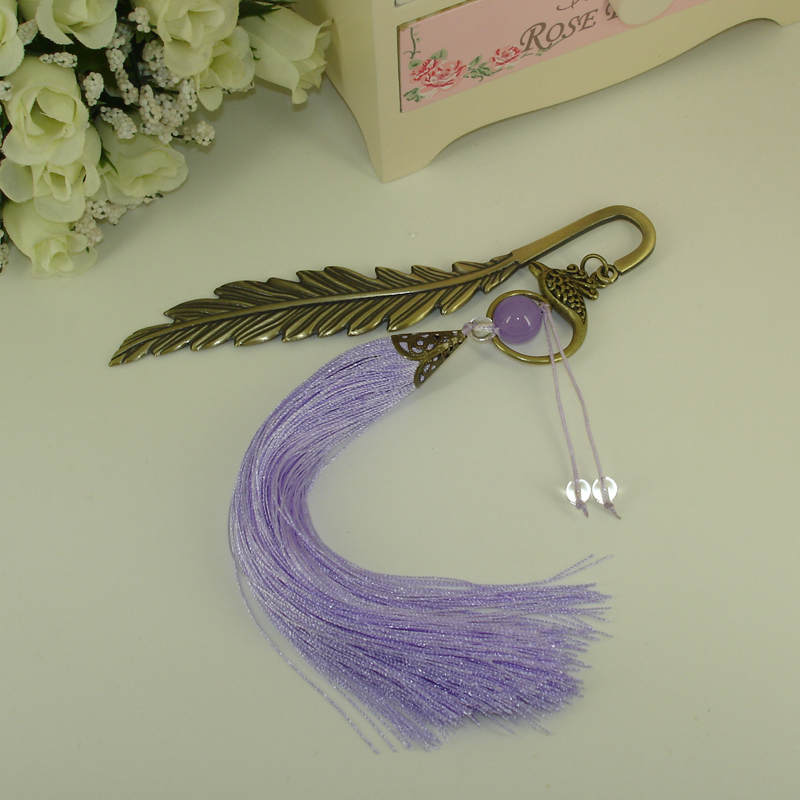 Handmade Bookmark Original Design Metal and crystal Bookmark with Beading Fashionable Stationery Accessories for Jewellery Gifts in Bookmark from Office School Supplies