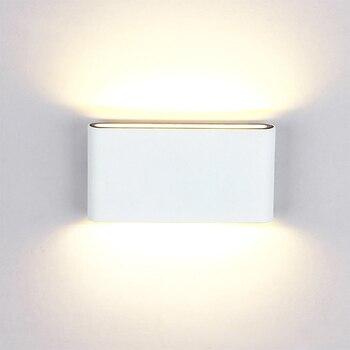 2018 wodoodporna IP65 lampa ścienna LED 6 W 12 W na zewnątrz/kryty ściana światła ogród światła dla pokoju gościnnego korytarz oświetlenie dekoracyjne