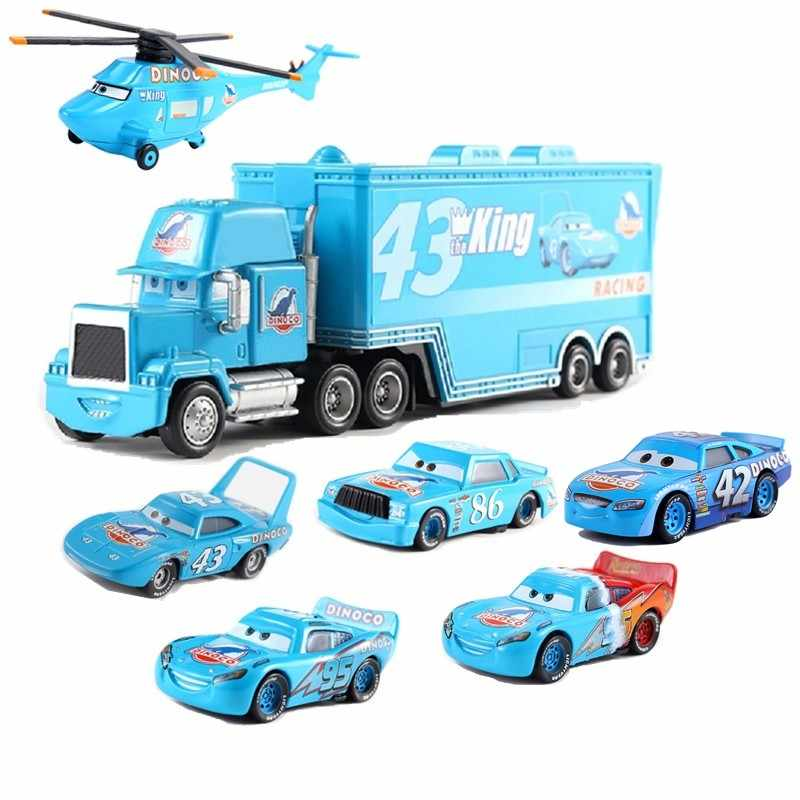 Disney Pixar Car 3 Dinosaur Family Truck Kingdom Mike Racing 1:55 Die Cast Metal Alloy Model Toy Car Child Birthday Gift