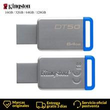 Kingston цифровой DT50 USB 3,1 высокоскоростной флеш-накопитель 16 ГБ 32 ГБ 64 ГБ 128 ГБ TF карта с фактическим объемом памяти U Stick