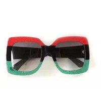 2017 Square Big Frame Sunglasses Women Three Colors Hot Steampunk Sun Glasses Oculos De Sol Feminino