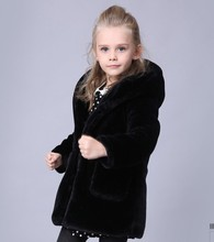 Baby girls and boys wear new winter coat cotton imitation fur coat thick coat