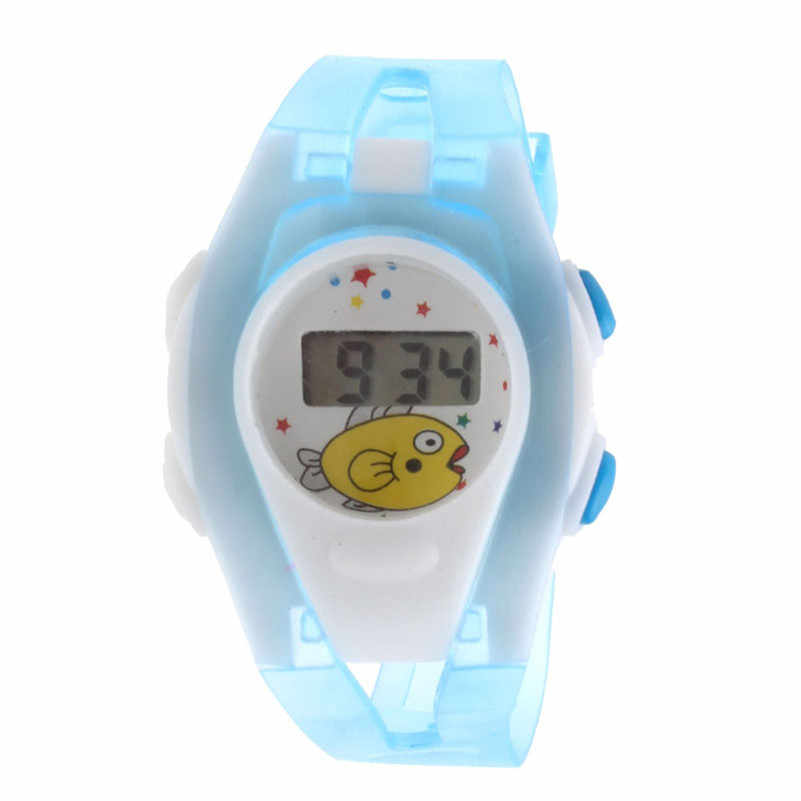 Children Boy Girl Student watch Sport Time Clock Electronic Digital LCD Wrist Watch Wrist Watch Best Gift #2AP30*YL*YL
